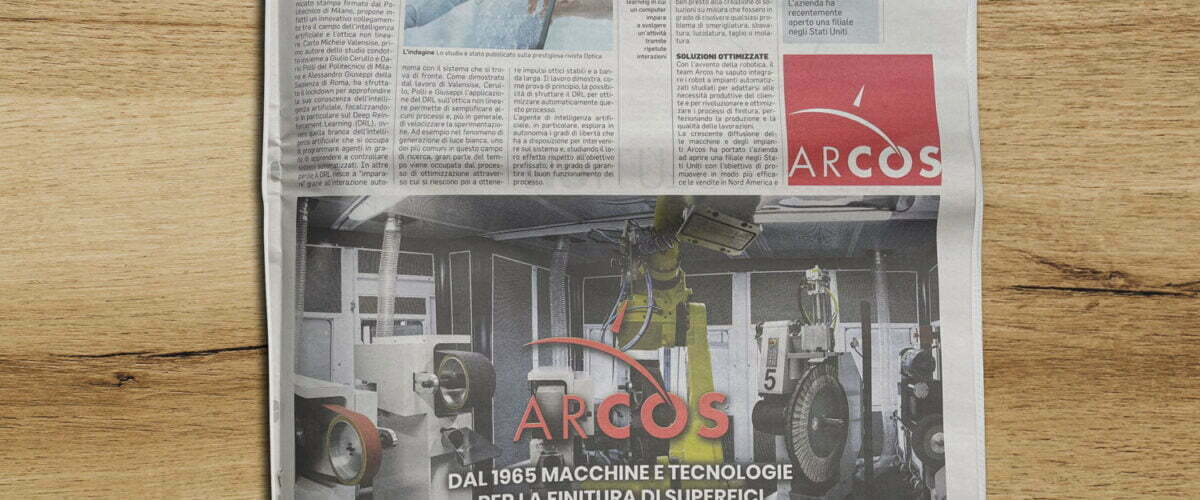 Article in the Corriere della Sera of 28 April 2021 | Arcos