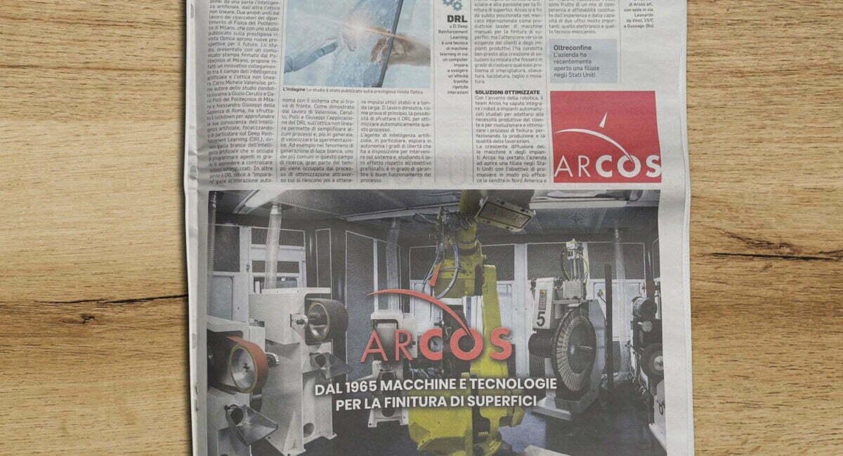 Articolo sul Corriere della Sera del 28 aprile 2021 | Arcos